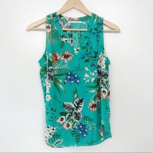 Violet & Claire • Green Floral Sleeveless Blouse